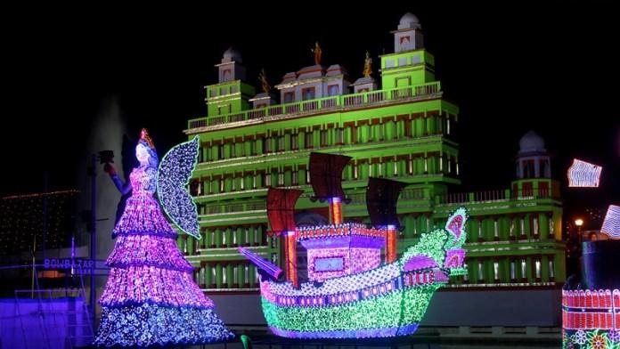College Square Theme Durga Puja Pandal