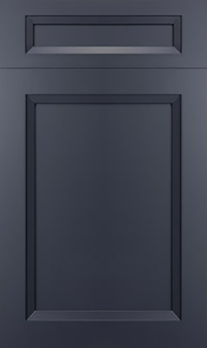 Bellrose Blue Slate Transitional Kitchen Cabinet