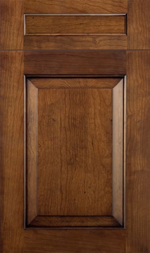 New Haven Cherry Cognac Brown Panel Kitchen Cabinets