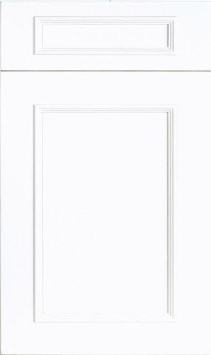 Ridgewood Bright White Transitional Kitchen Cabinet