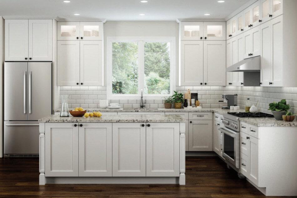 Elegant White Kitchen Style