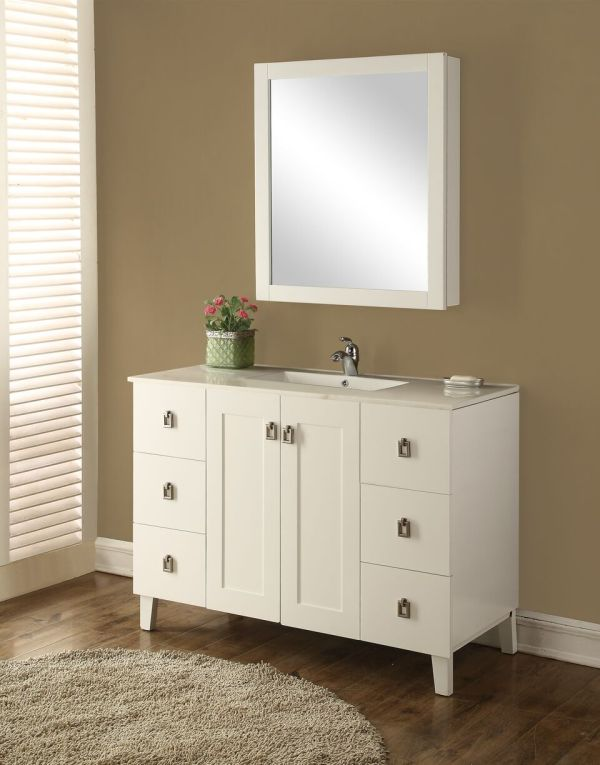 Elan 48′ White with Matching Medicine Cabinet