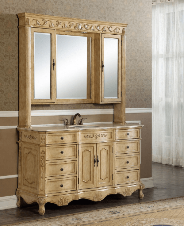 Kensington 60′ Single in Tan with Matching Medicine Cabinet