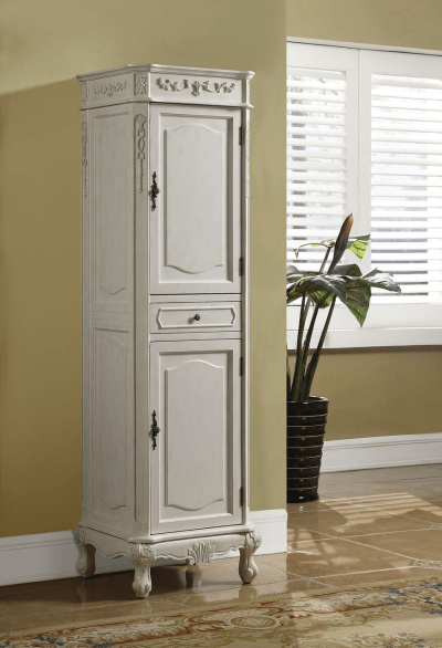 Kensington Linen Cabinet Antique White