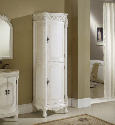 Tuscany 21′ Linen Cabinet Antique White