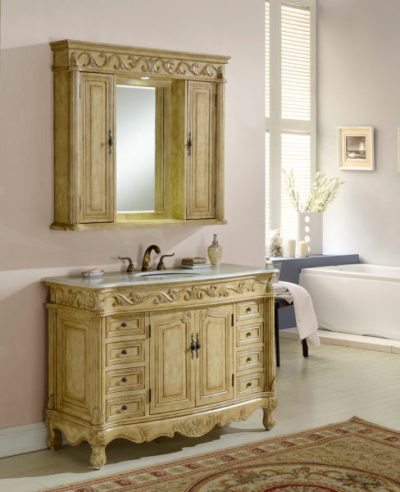 Tuscany 48′ Tan with Matching Medicine Cabinet