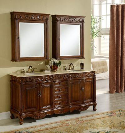 Tuscany 72′ Teak with Matching Medicine Cabinet