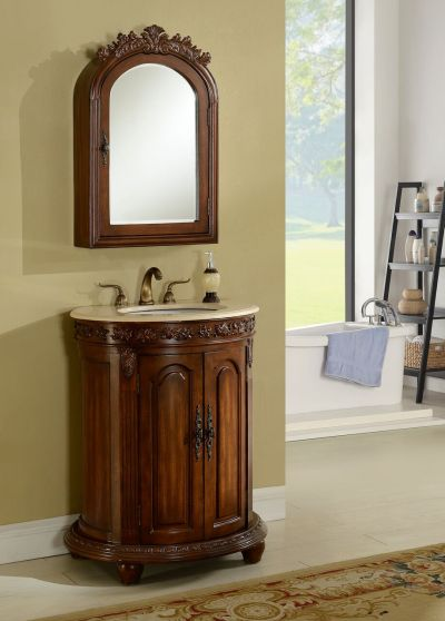Wellington 28′ Teak with Matching Medicine Cabinet