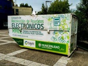 Punto de recolección de residuos electrónicos
