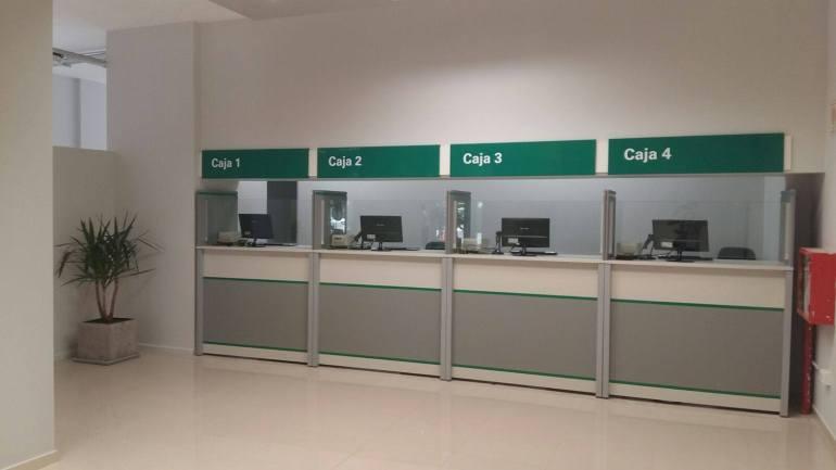 Cajas del Centro de Atención Comercial de EPEC en Nueva Córdoba
