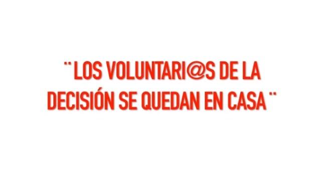 voluntarios decisión casa