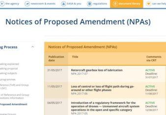 modifiche al regolamento europeo sui droni-easa