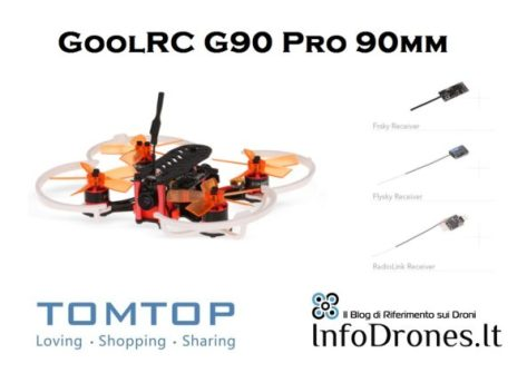 recensione goolrc g90 pro 90mm tomtop-drone racer fpv-micro brushless fpv