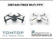 recensione OBTAIN F803 Wifi FPV promo tomtop-coupon tomtop-drone copia mavic economico