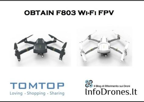 recensione OBTAIN F803 Wifi FPV promo tomtop-coupon tomtop-drone copia mavic economico