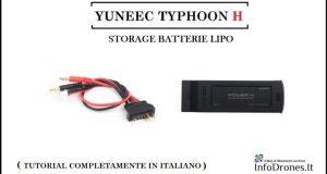 storage batterie lipo yuneec typhoon h-come fare lo storage delle batterie-storage batterie typhoon h-cavo per caricatore yuneec-adattatore per batterie yuneec