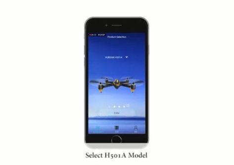 app drone hubsan h501a