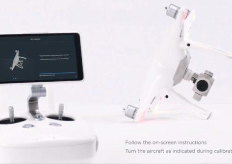 drone DJI Phantom 4 PRO calibrazione IMU