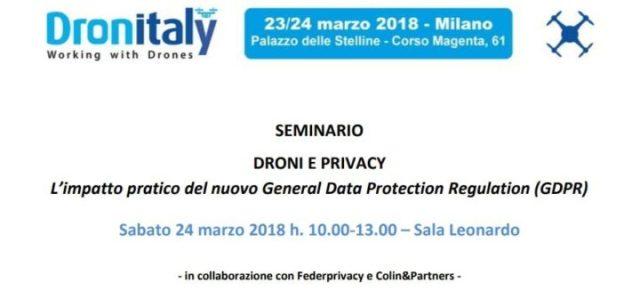 dronitaly-droni e privacy-nuovo regolamento europeo su protezione dati personali