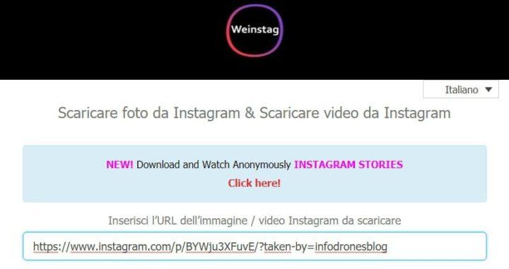 weinstag scaricare foto da instagram
