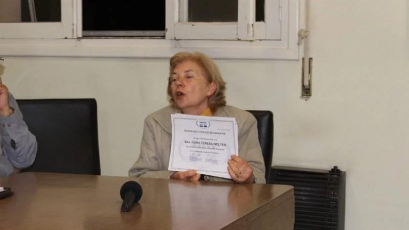 El Concejo Deliberante destacó la trayectoria de Nora Nolter