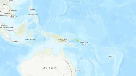Se registra un sismo de 6,3 frente a las costas de Papua Nueva Guinea