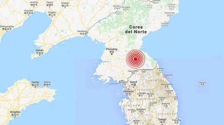 Se registra un sismo de magnitud 3,8 en Corea del Norte, cerca de la frontera con Corea del Sur