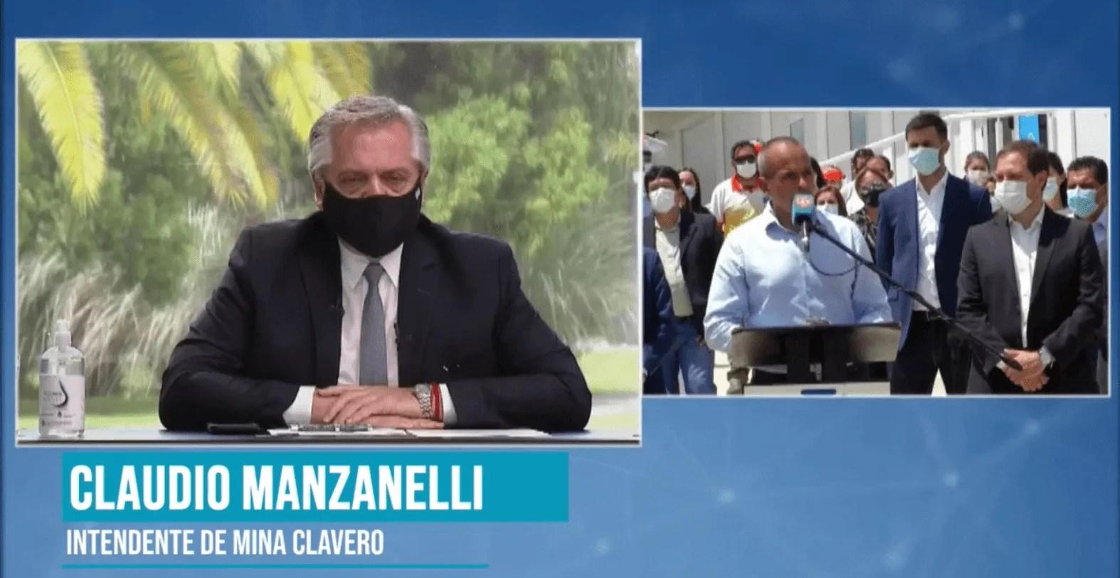 El presidente Fernández inauguró por zoom el Hospital Modular de Mina Clavero