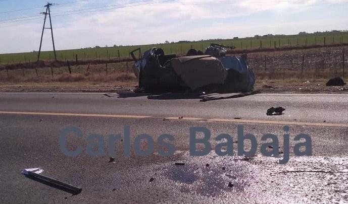 Accidente fatal entre un auto y un camión en Ruta 33 cerca de Amenabar