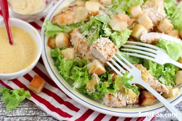 Салат «Цезарь» с курицей: классический рецепт   InfoEda.com