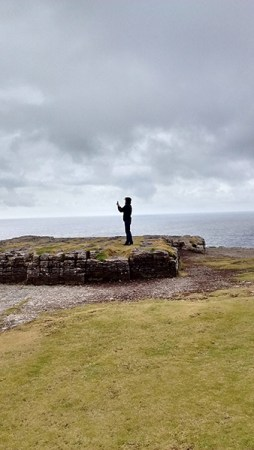 photo of author in profile on Dun Angus, Inishmore, Ireland