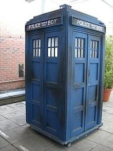photo of the Tardis (blue photo booth) from Dr. Who
