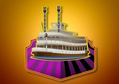 Ilustración digital de barco de vapor