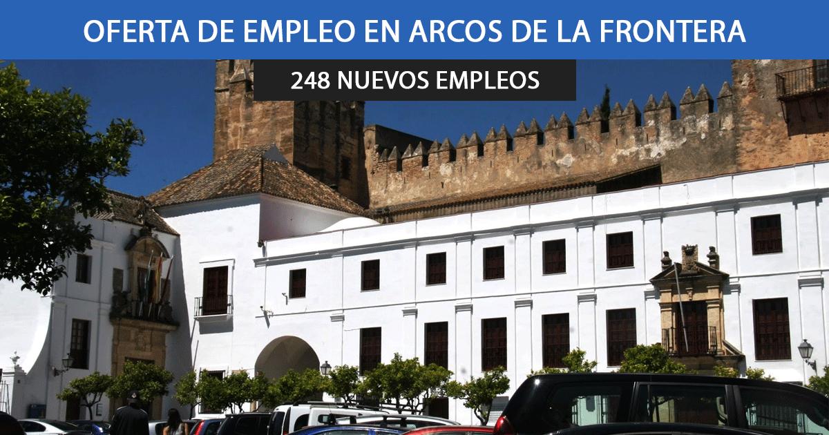El Ayuntamiento de Arcos de la Frontera busca cubrir 248 nuevos empleos.