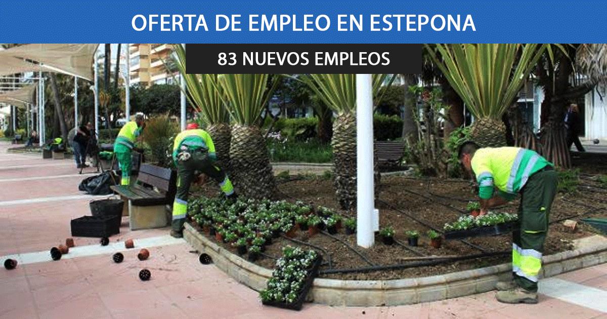 83 trabajadores para el Ayuntamiento de Estepona