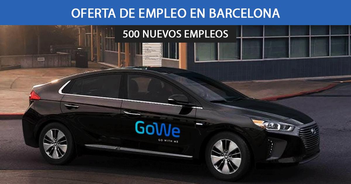 Se necesitan 500 trabajadores para VTC Gowe en Barcelona