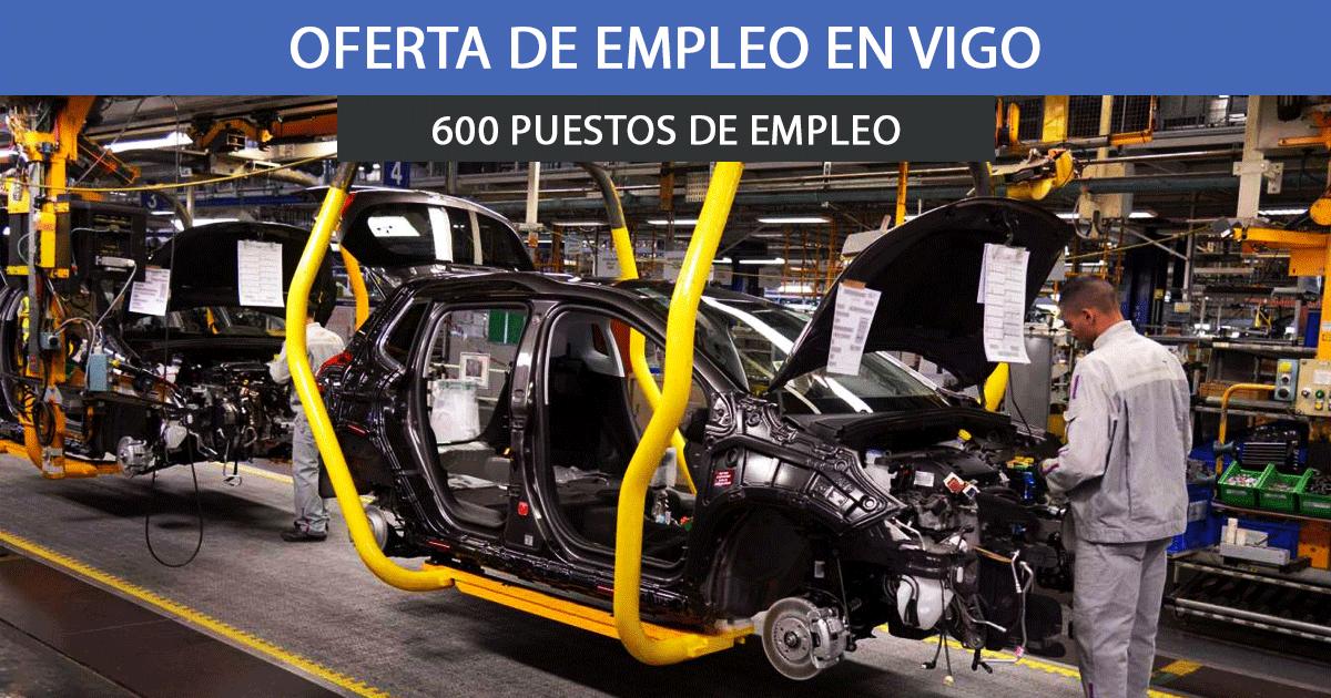 PSA Vigo oferta más de 600 empleos en su factoría