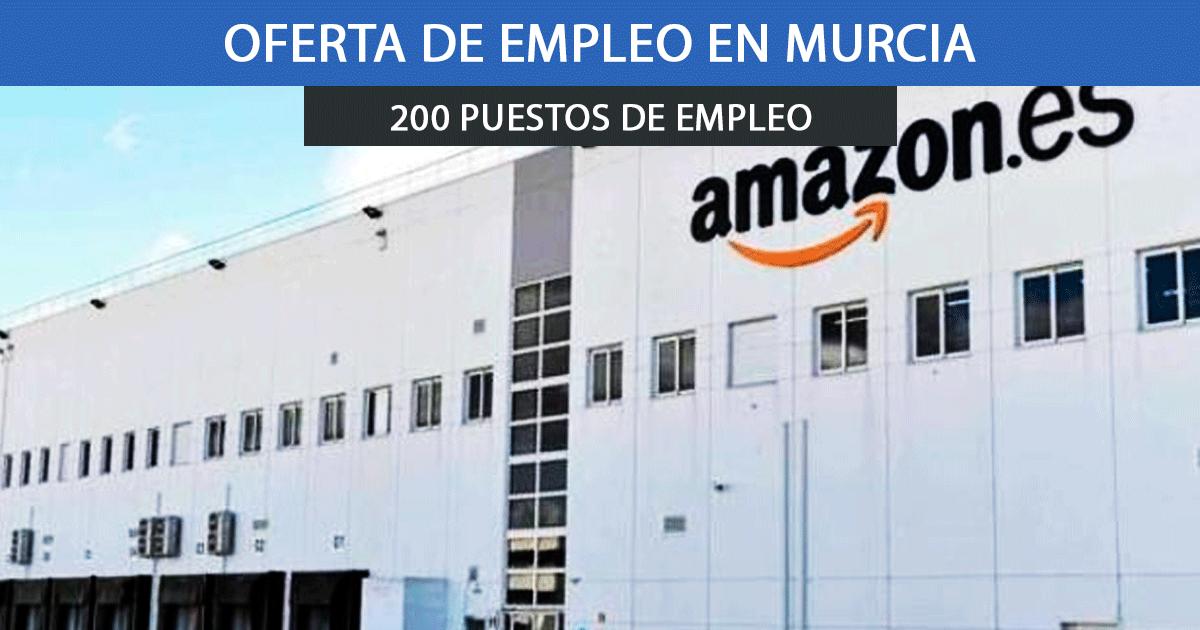 Se necesitan 200 trabajadores para el nuevo centro logístico de Amazon en Murcia