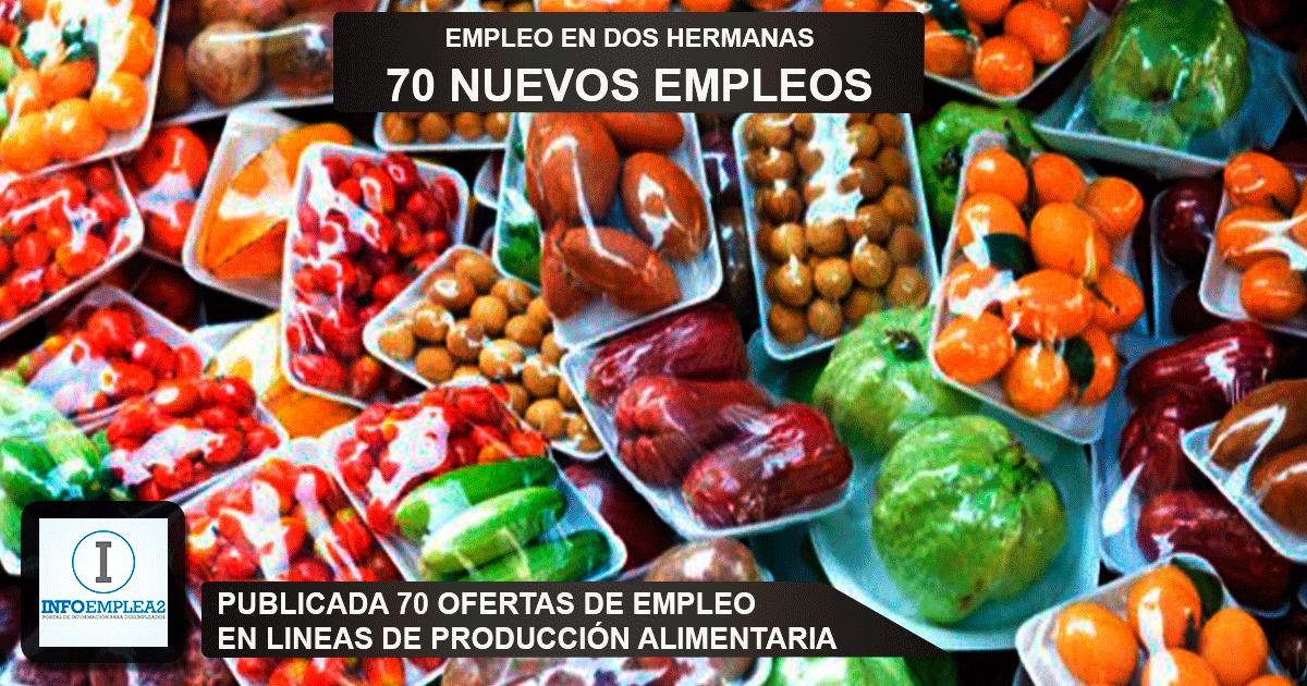 Se necesitan 70 operarios en Dos Hermanas (Sevilla) para trabajar en línea de producción alimentaria