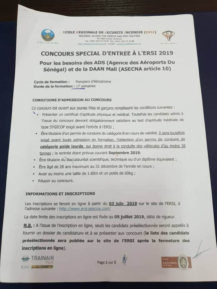 Concours D'entrée À L'école Régional De La Sécurité Informatique (Ersi)