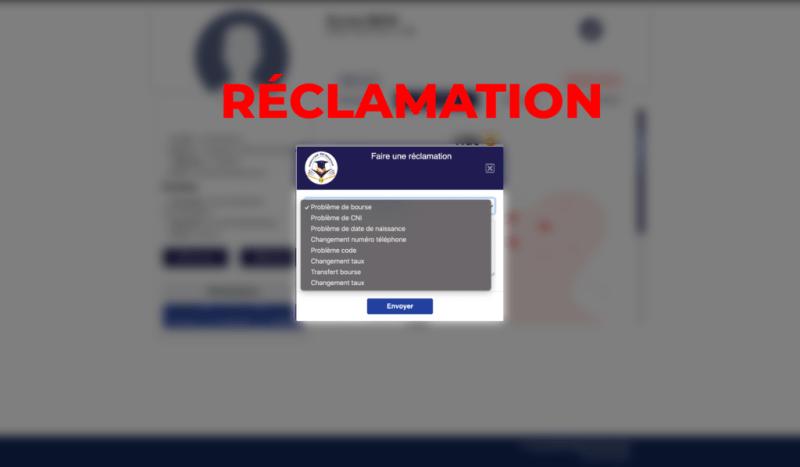 """Capture d'ecran de la page"""" faire une réclamention"""" par infoetudes.com"""