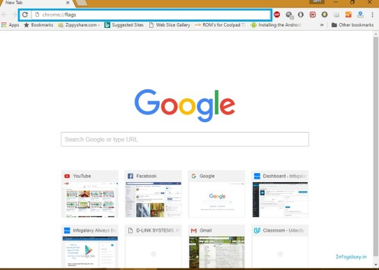 How to change the material design of google chrome-infogalaxy.in