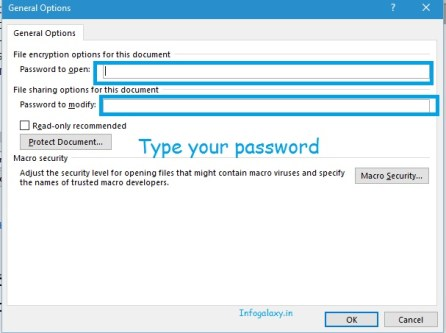 How To Password Protect Your Document-infogalaxy.in