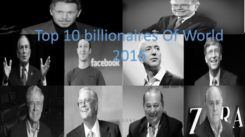 Top 10 billionaires Of World 2016