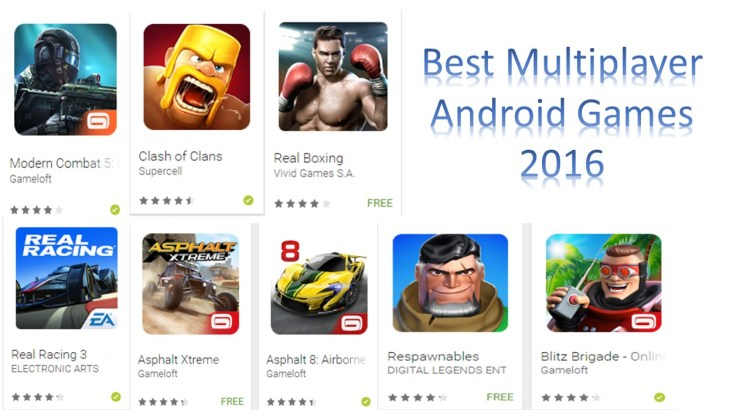 Best Multiplayer Android Games 2016
