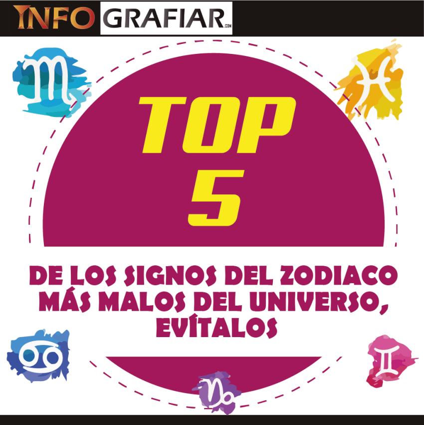 TOP 5 DE LOS SIGNOS DEL ZODIACO MÁS MALOS DEL UNIVERSO, EVÍTALOS