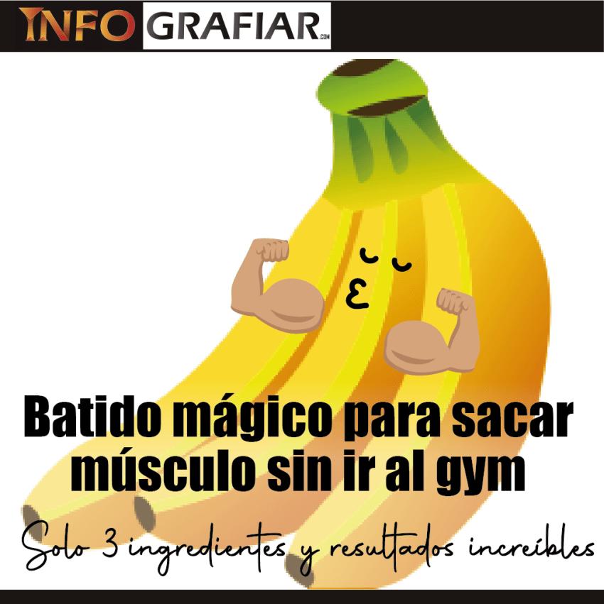 Batido mágico para sacar músculo sin ir al gym, solo 3 ingredientes y resultados increíbles