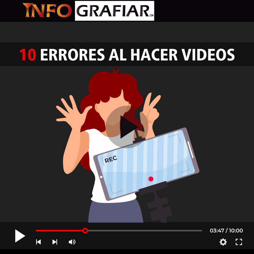 10 Errores al hacer videos