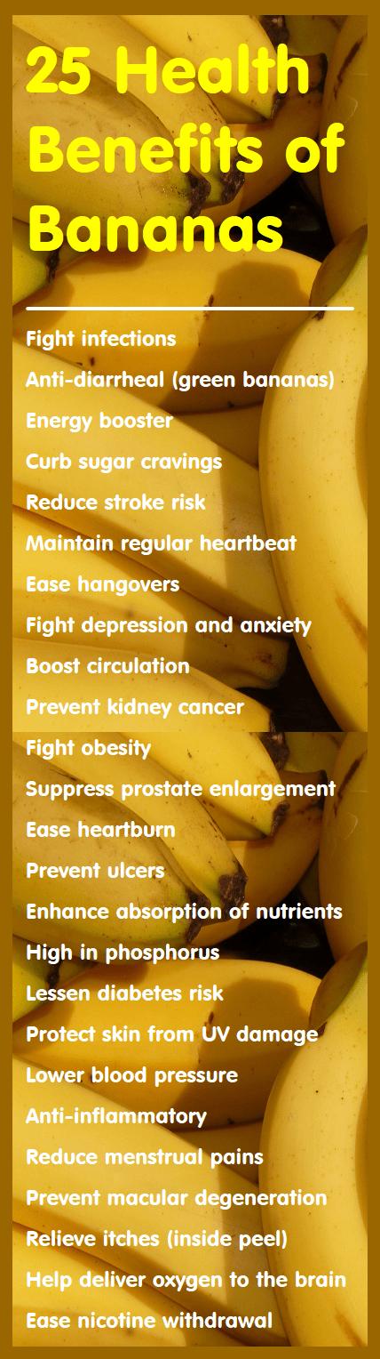 25 Health Benefits of Bananas