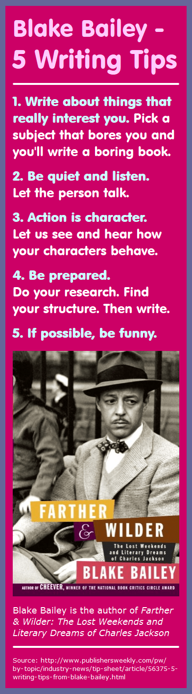 Bookographic: 5 Writing Tips